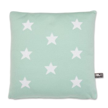 Strickkissen 'Star' mint 40x40cm Baby's only