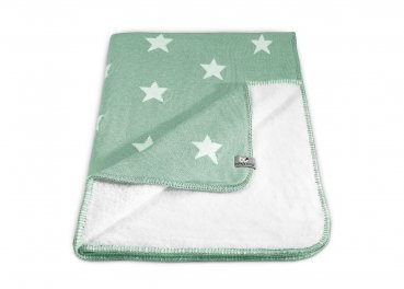 Strickdecke 'Star' mint 70 x 95cm Baby's only