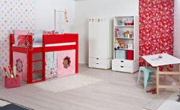 kleiderschrank mit regal wei manis h lovely little. Black Bedroom Furniture Sets. Home Design Ideas