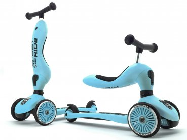 Scoot & Ride 2 in 1 Laufrad Roller Highwaykick 1 Blueberry