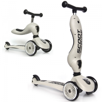 Scoot & Ride 2 in 1 Laufrad Roller Highwaykick 1 Ash