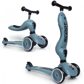 Scoot & Ride 2 in 1 Laufrad Roller Highwaykick 1 Steel