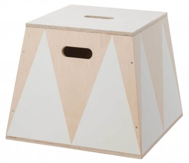 Up! Warsaw Trapez Box 'Roll up' Holz weiss