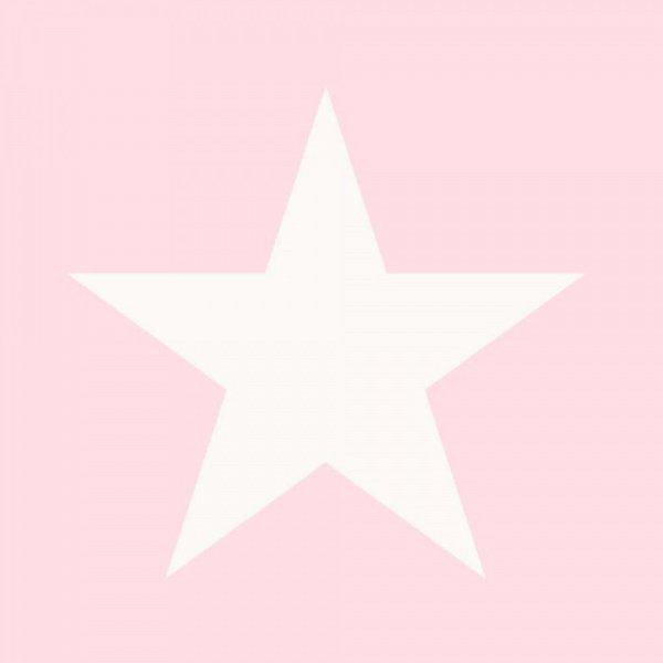 Kindertapete 39 stern 39 rosa raschtextil lovely little for Sternentapete grau